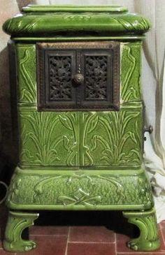19th century ceramic tile stove by echkbet
