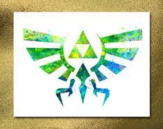 Instant Download Hyrule Crest, Legend of Zelda Poster, Link Skyward Game, Manga…