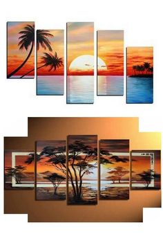 Gesso For Oil Painting 5 Piece Canvas Art, Multi Canvas Art, Large Canvas Art, Large Artwork, Extra Large Wall Art, Large Painting, Hand Painting Art, Canvas Wall Art, Cama Design