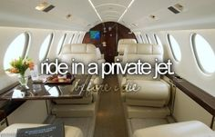 done that, OWN a private jet