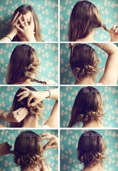 HAIR - The Easiest Hair Do   hairstyles tutorial