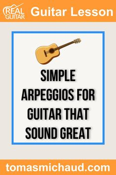 Arpeggios help you visualize the fretboard on a guitar in an entirely new way. Learning arpeggios can be a huge help in learning to improvise on guitar. If you're not familiar with arpeggios, they are simply a chord being played one note at a time. Sometimes the notes will ring out into each other, and sometimes they won't. Like you'll learn in this guitar lesson, sometimes they'll be played in new and exciting shapes! This guitar lesson teaches 4 simple arpeggios. Play Guitar Chords, Learn Acoustic Guitar, Learn To Play Guitar, Guitar Online, Guitar Lessons For Beginners, Cool Electric Guitars, Guitar Tutorial, Music Promotion, Guitar Tips