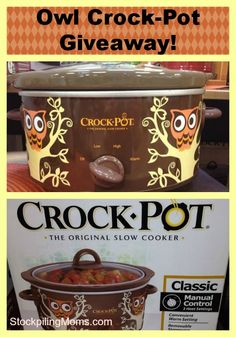 Owl Crockpot Giveaway - The giveaway will end on 12/25/13 at 8 pm ET