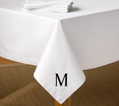 """Caterer's Tablecloth - White #potterybarn. $59 for 90"""" round"""