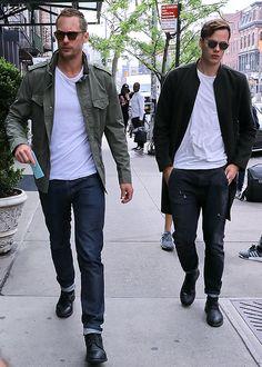 Alexander and Bill Skarsgard