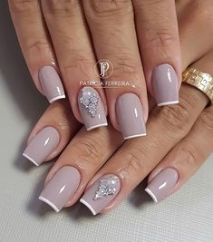 💅🏻 Esmalte Glam Nails, Classy Nails, Manicure And Pedicure, Beauty Nails, Glitter Nails, Beauty Makeup, Hair Beauty, Fabulous Nails, Gorgeous Nails