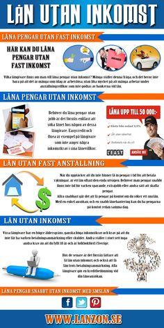 Besök denna webbplats http://lanzon.se/lana-pengar-utan-inkomst/ för mer information om lån utan inkomst. Idag finns det tusentals människor som finner sig i tunga skuld, vilket i vissa fall beror på förlust av ett jobb eller i andra fall det från att behöva betala på ett topplån tillsammans med användning av kreditkort.