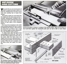 Table Saw Thin Rip Guide - Table Saw Tips, Jigs and Fixtures - Woodwork, Woodworking, Woodworking Plans, Woodworking Projects Circular Saw Jig, Circular Table, Woodworking Jigs, Woodworking Projects, Power Saw, Workshop Bench, Table Saw Accessories, Wood Tools, Made Of Wood