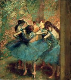 Edgar Degas Dancers in Blue painting for sale, this painting is available as handmade reproduction. Shop for Edgar Degas Dancers in Blue painting and frame at a discount of off. Edgar Degas, Ballerine Degas, Degas Paintings, Dance Paintings, Degas Drawings, Pastel Paintings, Canvas Paintings, Painting Prints, Art Prints