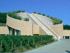 Petra Winery. Mario Botta, Suvereto, Tuscany, Italy [Val di Cornia]. 1997