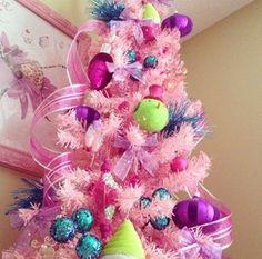 Pink Christmas tree - LOVE for Alaina's room