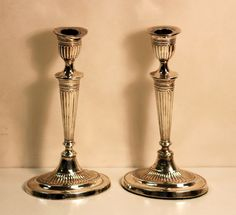 Currently at the #Catawiki auctions: Antique Pair of Filled Silver Candlesticks, Made in Sheffield 1903, Made By F...