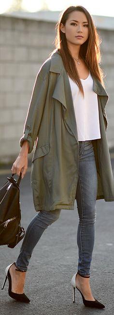 Charlotte Russe Jacket (similar) | Abercrombie Denim | Schutz Heels (similar on sale) | Rebecca Minkoff Bag
