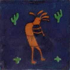 """Mexican tiles in """"Cobalt Musician"""" style. Spanish with terra cotta and green red clay tile design over cobalt background. Shipping from Mexico to the US and Canada is estimated for four weeks. Kitchen Tiles, Kitchen Colors, Bathroom Red, Bathroom Wall, Bathroom Ideas, Mexican Ceramics, Stair Risers, Hacienda Style, Ethnic Patterns"""