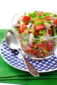 Raikas tomaatti-sitruunasilli | Grillikausi | Pirkka Dream Recipe, Salsa, Mexican, Koti, Cooking, Healthy, Ethnic Recipes, Kitchen, Salsa Music