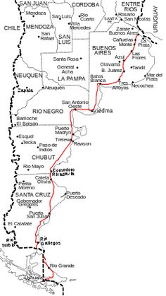 Ruta Nacional 3 (Argentina).svg South America Map, South America Destinations, Travel Destinations, List Challenges, Ushuaia, Argentine, Argentina Travel, How To Find Out, Places To Visit
