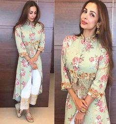 Malaika Arora Pakistani Fashion Casual, Pakistani Dress Design, Pakistani Dresses, Ethnic Fashion, Indian Dresses, Indian Outfits, Indian Fashion, Pakistani Suits, Indian Attire