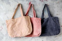 Naturally Dyed Totes - Sunset Colors | More & Co.| Portland Maine