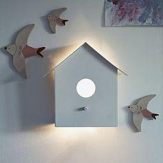 Hallie Bird House Wall Light