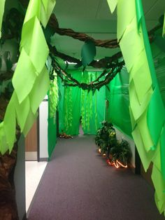 SHADY GROVE (craft area) - greenery.  Also use this to decorate hallways.