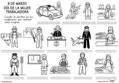 Día Internacional de la Mujer trabajadora para niños Ladies Day, Google Images, Homeschool, Education, Comics, Women, Year 2, Mochi, Puzzles