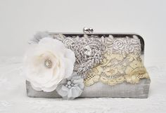 Silver Handbag  / New Years Eve / Great by Petite  Vintage Bags,