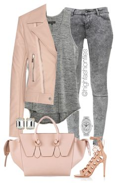 """""""Back to Color"""" by highfashionfiles ❤ liked on Polyvore featuring Zara, rag & bone, Balenciaga, Aquazzura, CÉLINE, House of Lavande and Rolex"""