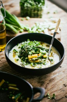 New Potato Soup with Vegetable Stir Fry #recipe