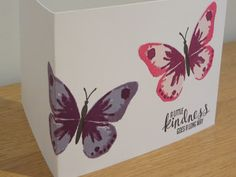 CraftyCarolineCreates: Watercolor Wings Card Showcase Tutorial, Stampin Up UK Watercolour Wings Homemade Watercolors, Wings Card, Butterfly Watercolor, Scrapbooking, Card Making Techniques, Butterfly Cards, Card Kit, Stamping Up, Craft Fairs