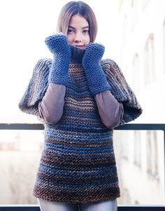 Revista principiantes 1 Otoño / Invierno | 3: Mujer Jersey | Marrón-Azul