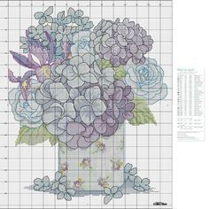 Cross Stitch Flowers, Cross Stitch Patterns, Cross Stitch Pictures, Crafts To Sell, Crochet, Applique, Diagram, Bouquet, Map