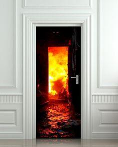 Door STICKER fire fireman conflagration flame flare blaze mural decole film self-adhesive poster cm) Wallpaper Door, Flare, Door Murals, Fire Doors, Door Stickers, Front Door Design, Vinyl Banners, Door Wall, Interior Walls