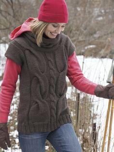 Cable Tunic | Yarn | Free Knitting Patterns | Crochet Patterns | Yarnspirations
