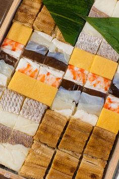 Pressed Sushi | Osaka, Japan 箱寿司. it's like tiles and scenery and art and food and !!!