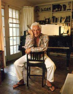 Leonard Bernstein (1918-1990) - composer and conductor.