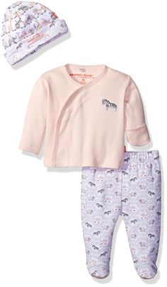 Magnificent Baby Magnetic 3 Piece Kimono Set, Darjeeling Damask Pink, 3 Months. Makes your life easier. Smart close magnetic fasteners make it easy to secure on a wiggly baby. Perfect for trip home from the hospital. Mitten cuffs to protect newborn to 3 month babies. A baby shower gift your friends will love.
