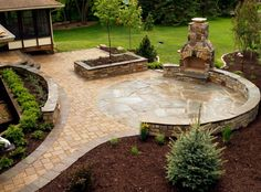 25 Great Stone Patio Ideas for Your Home & 197 Best Best Stone Patio Ideas images | Patio design Stone patios ...