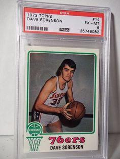 1973 Topps Dave Sorenson PSA EX-MT 6 Basketball Card #14 NBA Collectible…