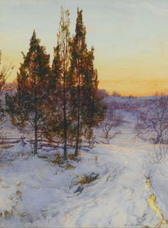 walter launt palmer paintings | Cedars at Twilight by Walter Launt Palmer (1854-1932, United States)