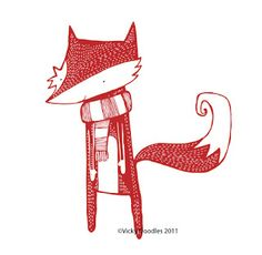 """Little Fox Doodle"" from Vicky Doodles."