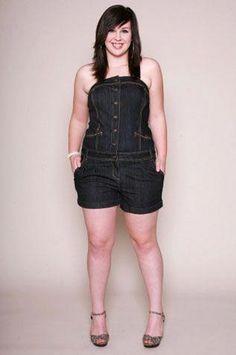 c2f847d0273 denim short rompers for women . For us curvy women.   fashionover40plussizehaircut Plus Size Jeans