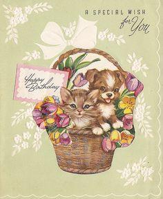 Vintage Greeting Card - Birthday by jerkingchicken, via Flickr
