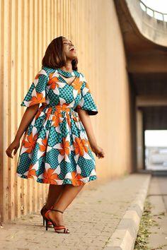Ankara Short Gown Styles, Trendy Ankara Styles, Latest African Fashion Dresses, African Print Dresses, African Dresses For Women, African Print Fashion, Africa Fashion, African Attire, Summer Dresses For Women