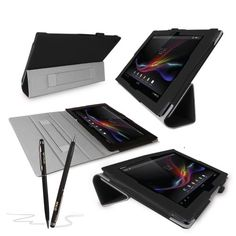 cool SONY XPERIA Z Tablet Case - G-HUB BLACK PropUp Stand Case Cover (with integrated stand function and hand strap) for Sony XPERIA Tablet Z SGP311 / SGP312 - Fits All Versions (16GB, 32GB, 3G / LTE, WiFi) with Magnetic Sleep Sensor, plus BONUS: G-HUB ProPen Stylus Check more at…