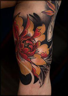 Flower tattoo, japanese sleeve tattoos, magnolia tattoo, irezumi tattoos, g Japanese Flower Tattoo, Flower Tattoo Hand, Flower Tattoo Meanings, Japanese Tattoo Designs, Flower Tattoo Shoulder, Japanese Sleeve Tattoos, Hand Tattoos, Tatuajes Irezumi, Irezumi Tattoos
