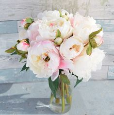 Silk Blush Pink Cream Peonies Arrangement Centerpiece - Large Flowers Peonies Faux Home Decor Artificial Roses - Acrylic Water by Wedideas on Etsy https://www.etsy.com/listing/261449902/silk-blush-pink-cream-peonies #peoniesarrangement