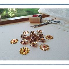 STORY N°I (Sample #4)  #storyI #sample #4 #embroidery #gold #beads #buglebeads #sequins #pearls #leaves #flowers #lesage #hautecoutureembroideries #byluneville