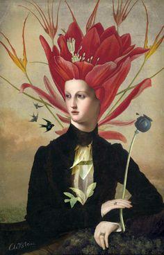 Harmony by Catrin Welz-Stein. ~via Catrin Welz-Stein, FB Art And Illustration, Harmony Art, Art Du Collage, Art Loft, Images Vintage, Image Nature, Pop Surrealism, Wassily Kandinsky, Whimsical Art
