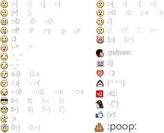 New Facebook emoticons & chat pictures (smiley & image codes)