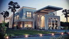 Fiverr freelancer will provide Industrial & Product Design services and classic villa design concept including Modeling within 2 days Morrocan Architecture, Islamic Architecture, Beautiful Architecture, Architecture Design, Architecture Sketches, Architecture Wallpaper, Style At Home, Modern Villa Design, Modern Mansion